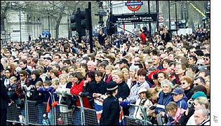 Crowds at Westminster