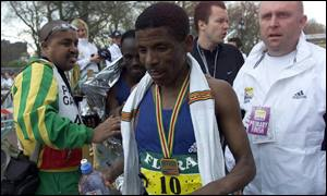 Haile Gebrselassie couldn't live with the pace of Khalid Khannouchi