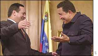 Hugo Chavez and Diosdado Cabello