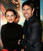 Tom Cruise is now with Penelope Cruz