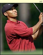 Tiger Woods at the 12th during his final round.