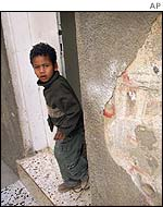 Boy in Jenin Refugee camp