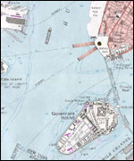 Map of New York Harbour