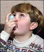 Boy with inhaler   BBC