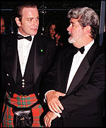 George Lucas with Ewan McGregor