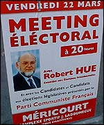 Robert Hue election poster