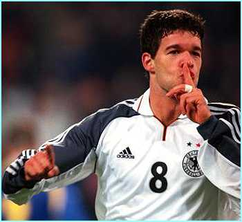 Germany's Michael Ballack is a very dangerous goal scoring midfielder, as Liverpool fans know to their cost