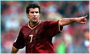 Current FIFA World Player of the Year, Luis Figo of Portugal is sure to create lots of chances for his team-mates