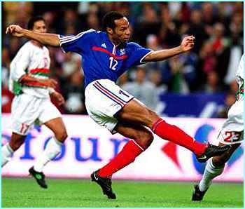 Thierry Henry's pace and skill will give France a great chance of staying world champions