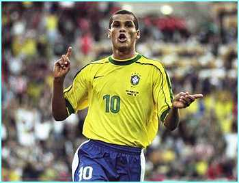 Brazil's Rivaldo is one of the most highly skilled players in the world, and will be a constant threat on the left hand side