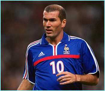 Zinedine Zidane of France is the most expensive player in the world, and scored two goals in the World Cup final in 1998