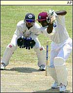 Carl Hooper on his way to a double century