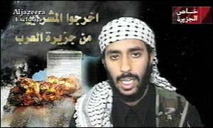 Suicide bomber, thought to be Ahmad Al-Haznawi, speaking on the tape