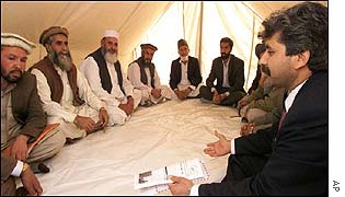 Loya Jirga commission member meets elders