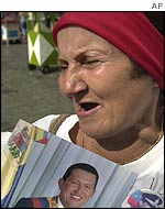 Chavez supporter in Caracas