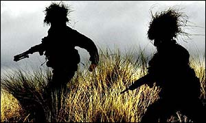 Royal Marines in training in Scotland