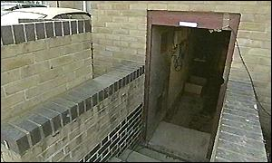 The entrance to Churchill's bunker in Neasden