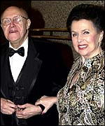 Mstislav Rostropovich with his wife Galina