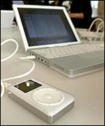 The iPod can carry large amounts of data