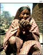 Homeless Muslim woman