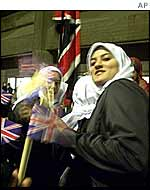 Waving the union flag in Tehran last October
