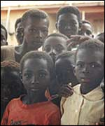 School children in Pamdu, Ghana