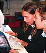 UK children at a computer