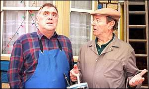 Dave King (r) on Coronation Street