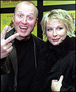 Adrian Edmonson and Jennifer Saunders