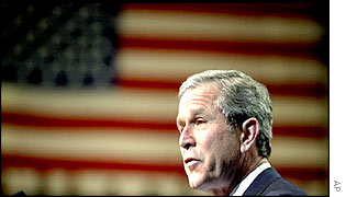 President Bush speaks at Virginia Military Institute in Lexington