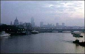 Blackfriars Bridge on the River Thames, London