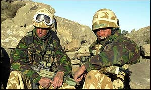 Royal Marine Commandos from 45 Commando RM in the eastern mountains of Afghanistan