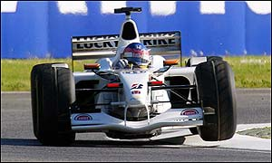 Jacques Villeneuve drives for British American Racing