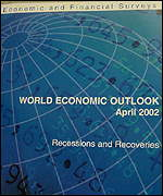 Front cover of the IMF's World Economic Outlook (WEO)