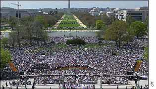 Thousands rally in Washington in support of Israel