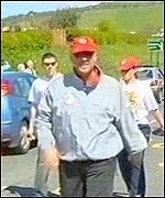 Ian Botham on the first day of Noah's Ark Appeal walk