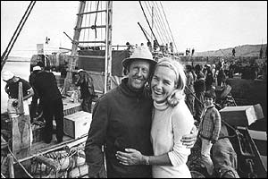 Thor Heyerdahl and his wife, in 1969