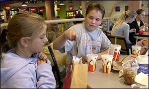 Group of children at McDonald's