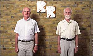 Photo by Richard Ansett of Ron and Roger, who signed the register