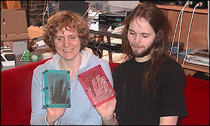 Dr Sile O'Modhrain and Ian Oakley of the Palpable Machines Research Group, BBC