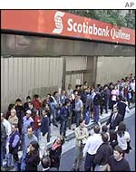 Customers at Scotiabank