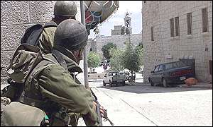 Israeli soldiers near Church of the Nativity