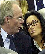 Sven Goran Eriksson and Nancy Dell'Olio