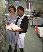 Nurses on duty at Guy's Hospital, London