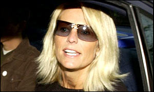 Ulrika Jonsson pictured leaving her home