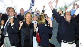 National Front supporters are elated