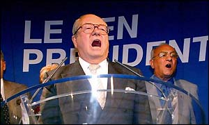 National Front leader Jean-Marie Le Pen