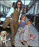 Geldof with Peaches (left) and Pixie