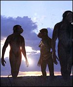 Early humans (BBC)
