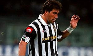Fabian O'Neill was starved of opportunities at Juventus